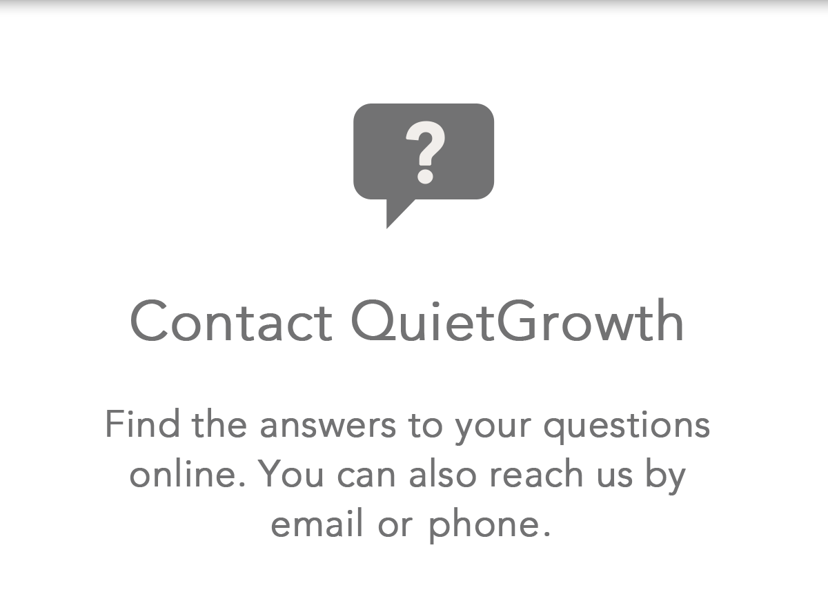 Contact QuietGrowth