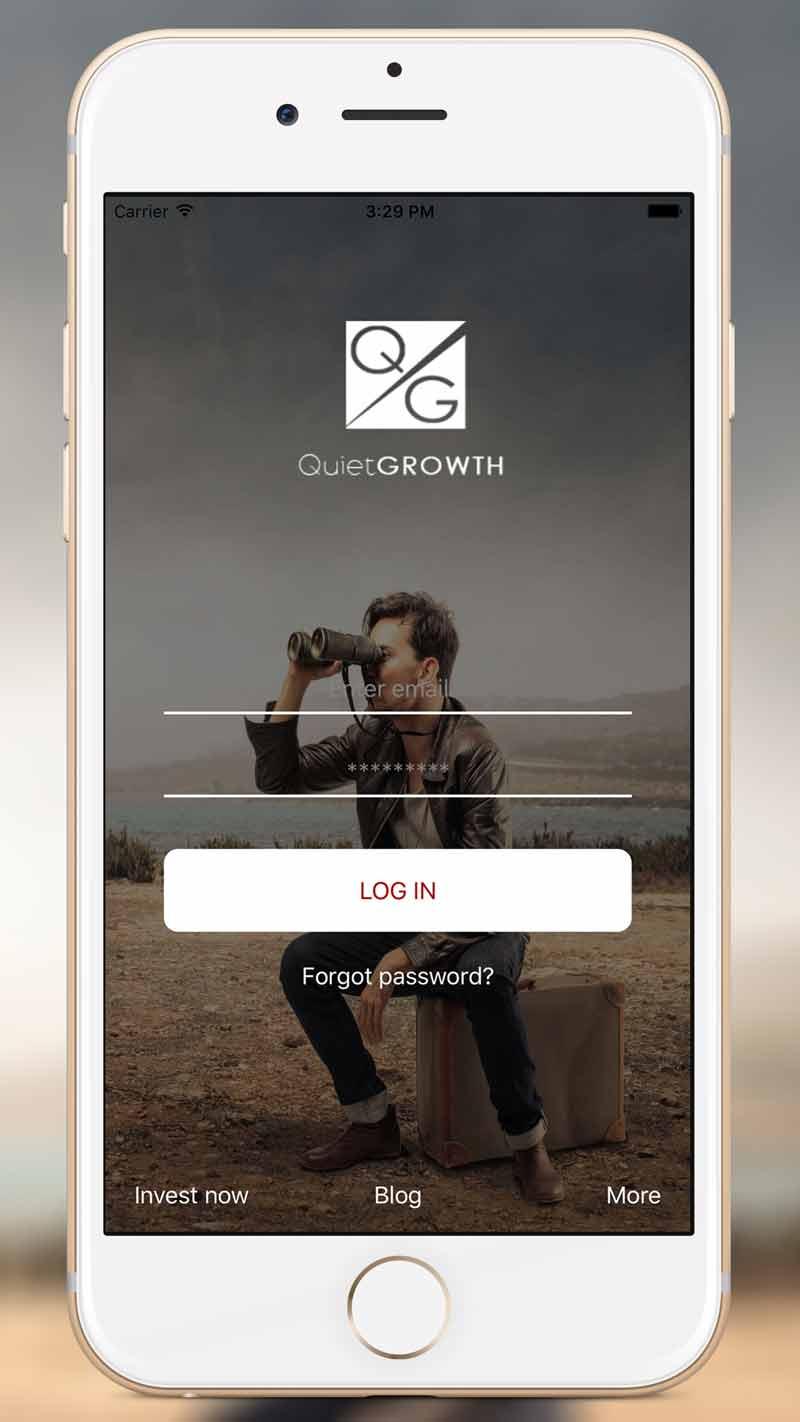 QuietGrowth iOS App Login