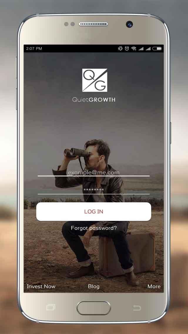 QuietGrowth Andriod App Login