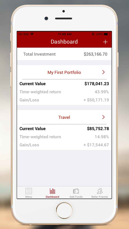 QuietGrowth iOS App Multiple Portfolio