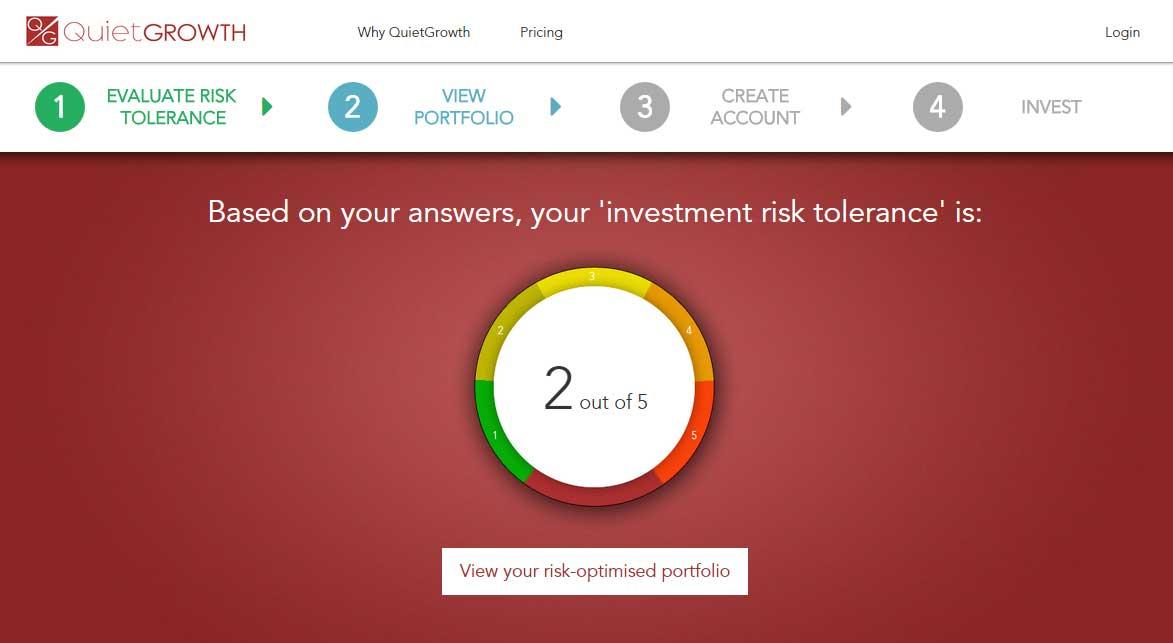 QuietGrowth Risk Tolerance Score