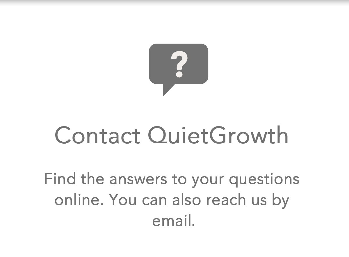 Contact QuietGrowth