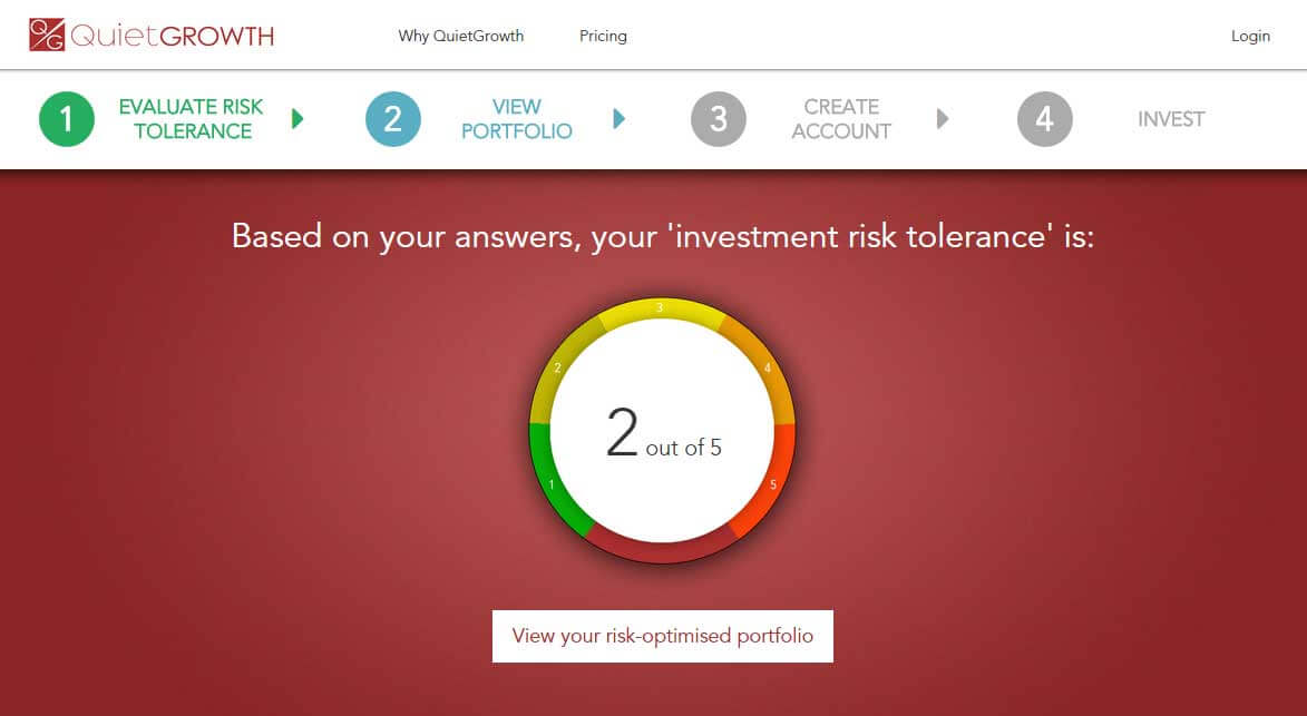 QuietGrowth Risk Tolerance Score
